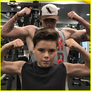 Brooklyn & Cruz Beckham Flex Their Biceps at the Gym!