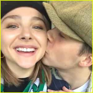 Chloe Moretz Reunites with Boyfriend Brooklyn Beckham in Ireland
