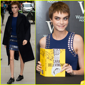 Cara Delevingne Shows Off Super Cute Brown Locks at 'Mirror, Mirror' Signing
