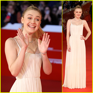 Dakota Fanning Looks Beautiful at 'Please Stand By' Premiere in Rome!