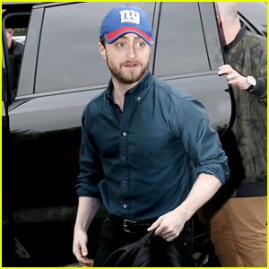 Daniel Radcliffe Heads Into a Radio Interview Wearing a New York Giants Hat!