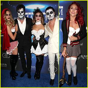 Val Chmerkovskiy & Jenna Johnson Are Couples Costume Goals at Maxim's Halloween Party