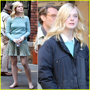 Elle Fanning Gets Into Character as She Continues Shooting Woody Allen Film