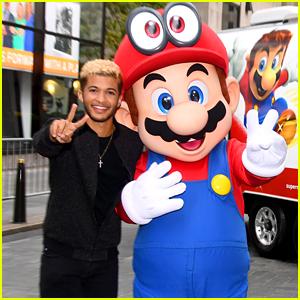 Jordan Fisher Dances With Mario at Super Mario Odyssey Game Launch