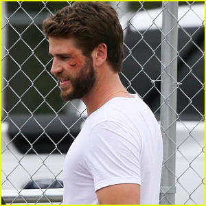 Liam Hemsworth Is Bloody & Bruised on 'Killerman' Set