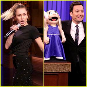 Jimmy Fallon Imitates Darci Lynne Farmer During 'Lip Sync Battle' with Miley Cyrus!