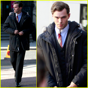 Nicholas Hoult Continues Filming 'Tolkien' in Liverpool