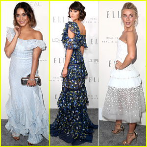 Vanessa Hudgens & Nina Dobrev Are Beauties in Blue at Elle Women in Hollywood Event