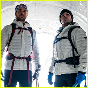 Zac Efron Climbs a Glacier with Brother Dylan! (Video)