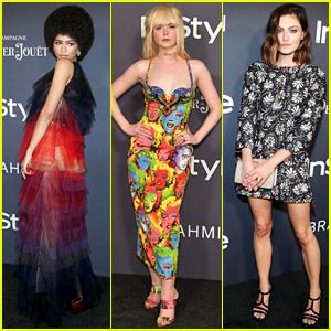 Zendaya, Elle Fanning, & Phoebe Tonkin Strut Their Stuff at InStyle Awards
