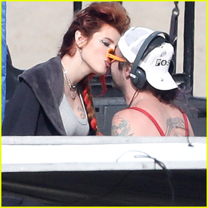 Bella Thorne Kisses Boyfriend Mod Sun on 'Famous in Love' Set