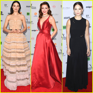 Crystal Reed Joins Kristin Kreuk & Italia Ricci at International Emmy Awards 2017