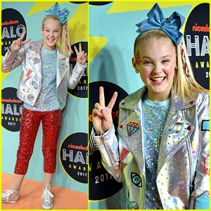 Jojo Siwa is All About the Sequins at the Nickelodeon Halo Awards 2017!