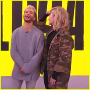 Jordan Fisher & Olivia Holt Go Dramatic With 'Master Tweet Theatre' on TRL