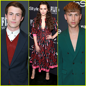 Dylan Minnette, Katherine Langford, & Tommy Dorfman Bring '13 Reasons Why' to InStyle's Golden Globes 2018 Event!