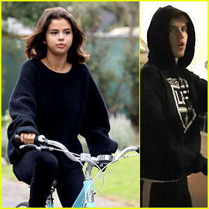 Selena Gomez Goes for a Bike Ride Before Justin Bieber Returns for Another Visit!