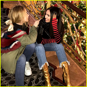 Sabrina Carpenter & Sofia Carson Catch Up In New York City
