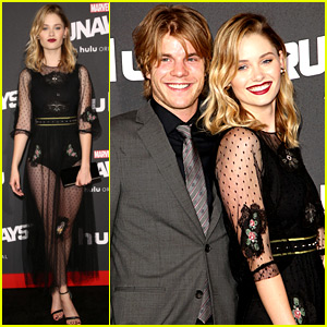 Virginia Gardner's Boyfriend Graham Rogers Joins Her at 'Runaways' Premiere!