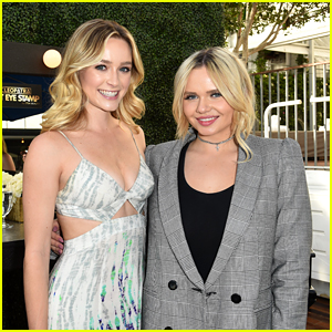 Alli Simpson & Greer Grammer Celebrate Cleopatra Cat Stamp Beauty Launch