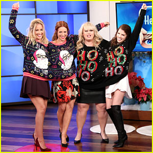 'Pitch Perfect 3' Cast Wears Ugly Christmas Sweaters, Reveals Their Most Bizarre Behaviors (Video)