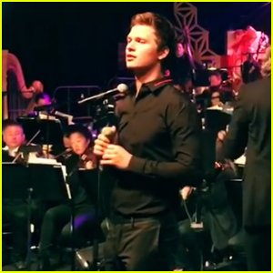 Ansel Elgort Sings 'Have Yourself a Merry Little Christmas' at Holiday Bash - Watch Now!