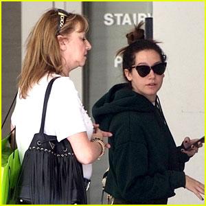 Ashley Tisdale Goes Holiday Shopping With Mom Lisa