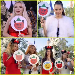 Dove Cameron, Sofia Carson & Fifth Harmony Play Holiday 'Naughty or Nice' - Watch Now!
