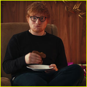 Ed Sheeran Snacks on Gingerbread Version of Himself in Funny Spotify Video - Watch!