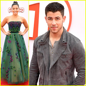 Gina Rodriguez & Nick Jonas Attend 'Ferdinand' Screening In Los Angeles