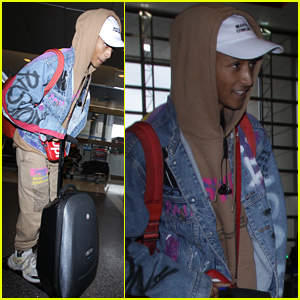 Jaden Smith Rides Around LAX Airport on His Motorized Suitcase!