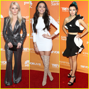 Julianne Hough & Madison Beer Step Out in Style For TrevorLIVE Gala 2017