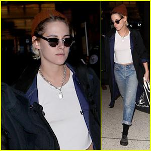 Kristen Stewart Heads to the Airport in Los Angeles!