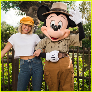 Olivia Holt Chills with Mickey Mouse at Disney World Before Christmas