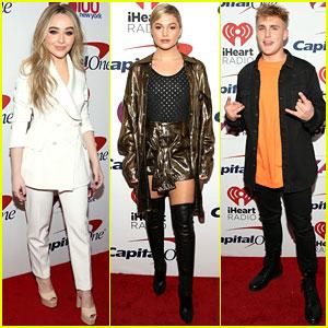 Sabrina Carpenter, Olivia Holt, Jake Paul, & More Stars Hang Out at Z100's Jingle Ball 2017