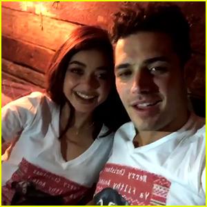 Sarah Hyland & Boyfriend Wells Adams Wear Matching Shirts on Christmas Eve!