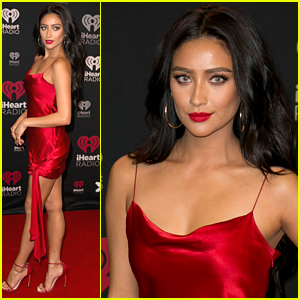 Shay Mitchell Sizzles in Red Hot Dress at Jingle Ball in Toronto