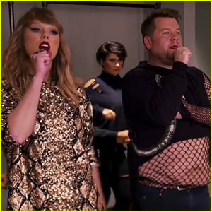 Taylor Swift Tells James Corden That Her Favorite James is James Franco!
