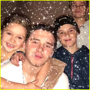Brooklyn Beckham, Romeo Beckham & The Beckham Family Reunite for Christmas - See Pics!