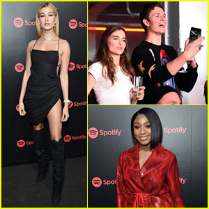 Ansel Elgort, Hailey Baldwin, & Normani Kordei Team Up for Spotify's Best New Artist Party