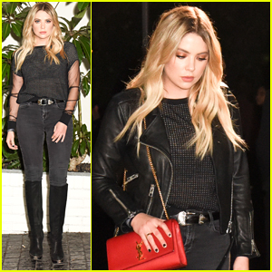 Ashley Benson Steps Out For W Magazine's Golden Globes Celebration