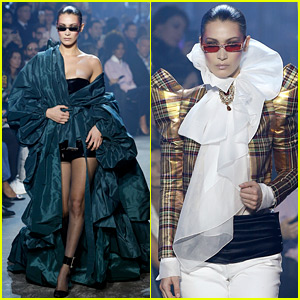 Bella Hadid Closes the Alexandre Vauthier Fashion Show