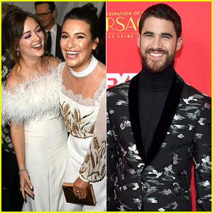 Lea Michele & Billie Lourd Have 'Scream Queens' Reunion at Darren Criss' 'Versace' Premiere