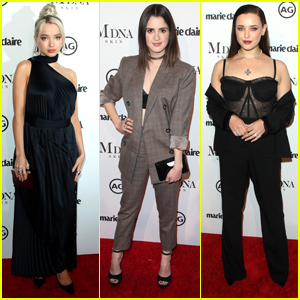 Dove Cameron, Laura Marano & Katherine Langford Step Out For Marie Claire's' Image Makers Awards