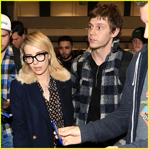 Emma Roberts & Fiance Evan Peters Head to Sundance Film Festival