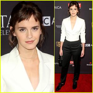 Emma Watson Rocks a Chic Suit for BAFTA Tea Party!