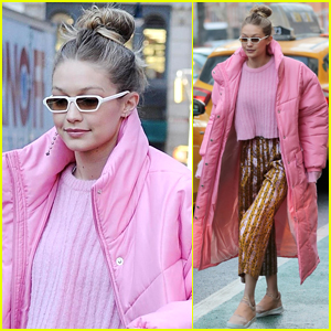 Gigi Hadid Bundles Up in a Chic Jacket in NYC!