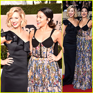 'Jane The Virgin' Co-Stars Gina Rodriguez & Yael Grobglas Hit the Red Carpet at SAG Awards 2018!