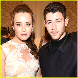 Katherine Langford & Nick Jonas Pose Together at BAFTA Tea Party!
