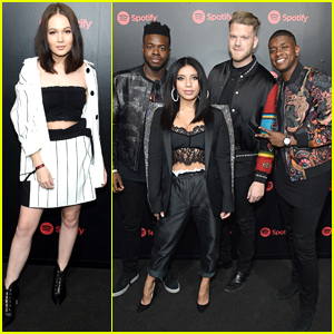 Kelli Berglund Joins Pentatonix at Spotify's Pre-Grammy Party