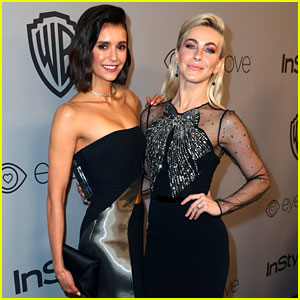 Nina Dobrev & Julianne Hough Dazzle at Golden Globes 2018 After-Party